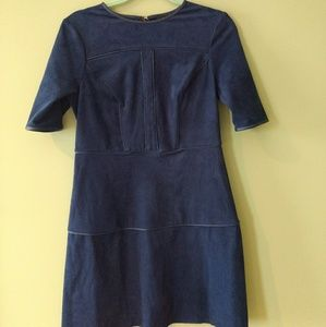 Guess Small 'Sallie' Faux-Suede Shift Dress.